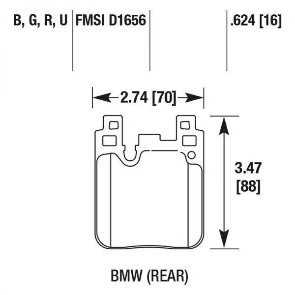 BMW Rear HB766B.624 Hawk Performance HPS 5.0 Brake Pads 2pot Brembo Calipers New