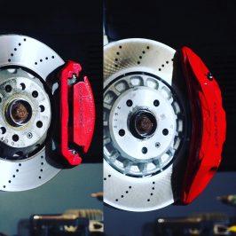 Front Audi Rsq3 F3 Brake Kit Akebono 6pot Red 374x36mm New