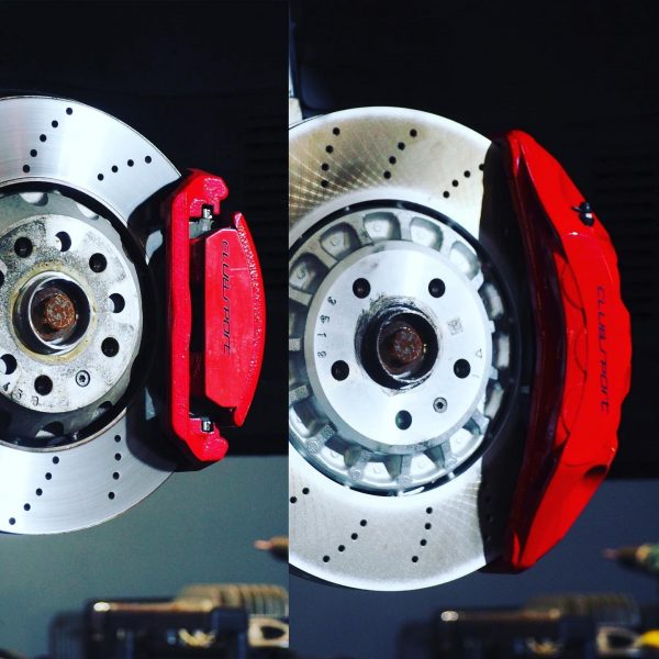 Front Audi Rsq3 F3 Brake Kit Akebono 6pot Red 374x36mm New