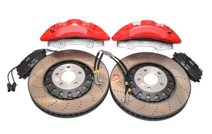 Front Audi Rs4 Rs5 B9 Original Brake Kit 6piston Red Akebono 375x36mm A4 S4 A5 S5 A6 C8 New