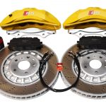 Front Audi Rsq3 F3 Brake Kit Akebono 6pot Yellow 374x36mm New