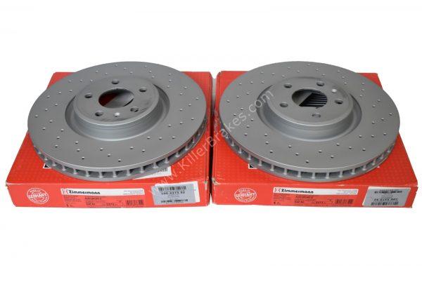 Front Zimmerman Brake Discs Audi S4 S5 B9 Audi A6 C8 350x34mm 100.3373.52