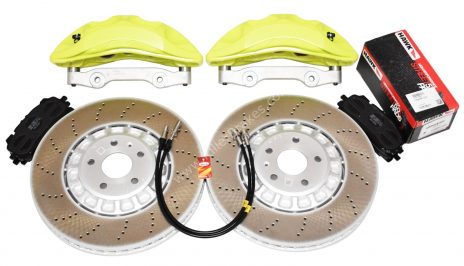 VAG MQB Big Brake Kit Akebono 6-Piston 374x36mm Acid Green New