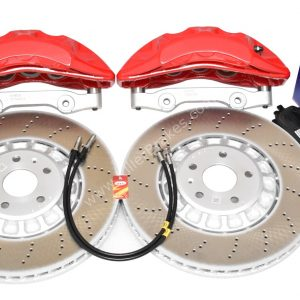VAG MQB Big Brake Kit Akebono 6-Piston 374x36mm Red New