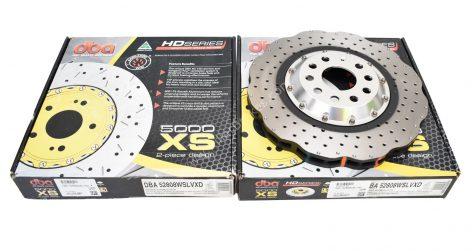 Front DBA 52808WSLVXD Brake Discs 345x30mm 2-piece 5000 series Drilled New