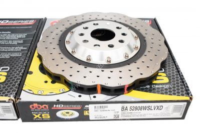 Front DBA 52808WSLVXD Brake Discs 345x30mm 2-piece 5000 series Drilled New