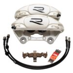 Porsche Macan Brembo 4pot Calipers 95B615123F 95B615124F MQB Direct Upgrade with Lines NEW- 1