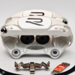 Porsche Macan Brembo 4pot Calipers 95B615123F 95B615124F MQB Direct Upgrade with Lines NEW- 10