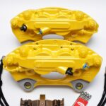 Porsche Macan Brembo 4pot Calipers 95B615123F 95B615124F MQB Direct Upgrade with Lines NEW- 27