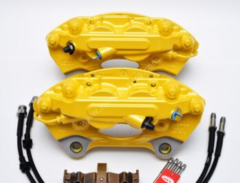 Porsche Macan Brembo 4pot Calipers 95B615123F 95B615124F MQB Direct Upgrade with Lines NEW