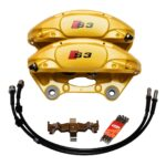 Porsche Macan Brembo 4pot Calipers 95B615123F 95B615124F MQB Direct Upgrade with Lines NEW- 3