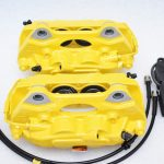 Porsche Macan Brembo 4pot Calipers MQB P&P Upgrade Yellow NEW