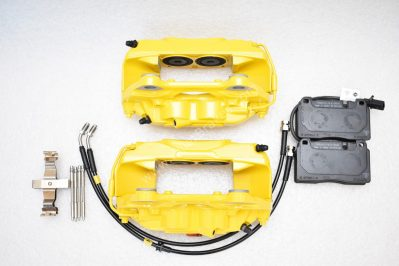 Porsche Macan Brembo 4pot Calipers MQB P&P Upgrade Yellow NEW