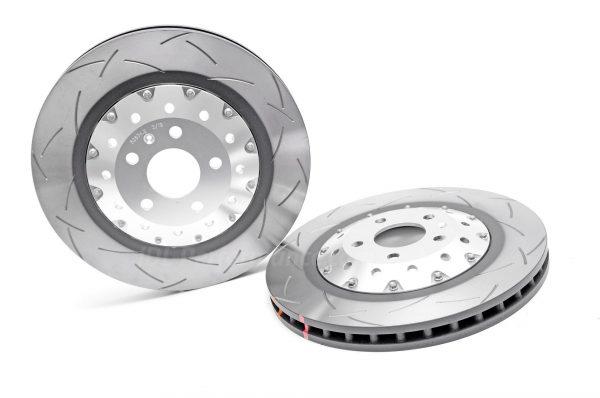 Rear Audi RS4 B8 Brake Discs DBA 52835SLVS 330x22mm 5000 series 2-Piece Clear Anodised - T3