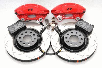 MQB Porsche Macan Brembo 4pot DBA Slotted discs Brake Kit NEW