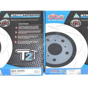 Rear Audi S6 S7 Rs7 4G DBA 2849S Brake Discs 356x22mm T2 Slotted New