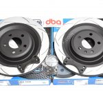 Rear brake upgrade 356x22mm DBA Slotted Brake Discs Golf 5/6/7 R20 Gti R R32 Audi S3 8v 8p