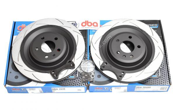 Rear brake upgrade 356x22mm DBA Slotted Brake Discs Golf 5/6/7 R20 Gti R R32 Audi S3 8v 8p