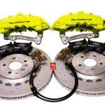 Audi TTRS 8S FL Brakes Brembo 8Pot Calipers 370x34mm Round Brake Discs Green Acid-1
