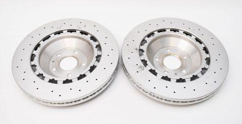 Audi Rs3 8v FL Sportback 8V0615301S Pair Round Brake Discs 370x34mm NEW