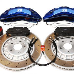 Front Audi Rsq3 F3 Brake Kit Akebono 6pot Lapiz Blue 374x36mm New