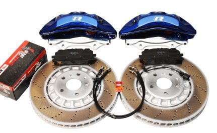 Front Audi Rsq3 F3 Brake Kit Akebono 6pot Lapiz Blue 374x36mm New