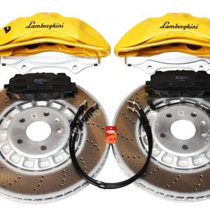 Front Audi Rsq3 F3 Brake Kit Akebono 6pot Lamborghini Yellow 374x36mm New