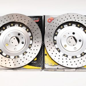 Audi TTRS 8S Brake Discs DBA 53912SLVXD 370x34mm 5000 series Fully Assembled 2-Piece Cross Drilled Dimpled