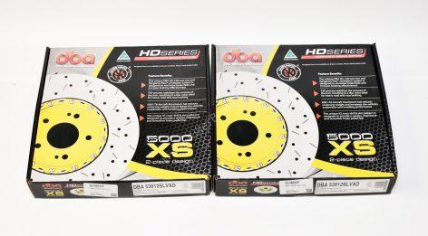 Audi TTRS 8S Brake Discs DBA 53912SLVXD 370x34mm 5000 series Fully Assembled 2-Piece Cross Drilled Dimpled