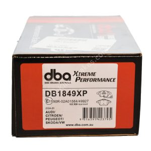 Front Golf 5 6 Scirocco DBA Brake Pads DB1849XP Xtreme Performance ECE R90 certified