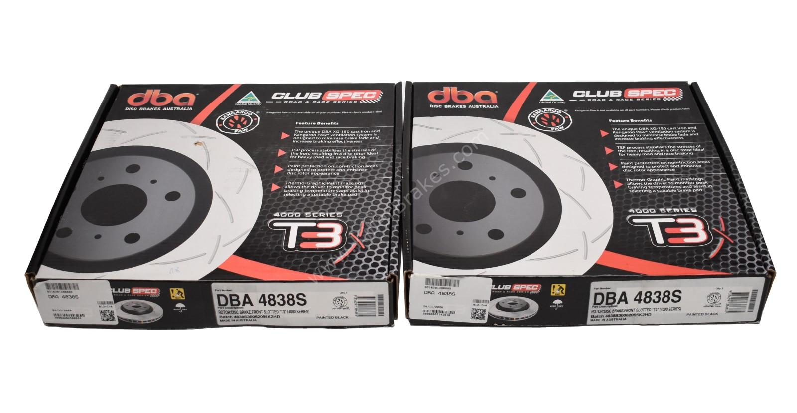 Front Audi S1 Polo 6C Ibiza 6J DBA Brake Discs 4838S 312x25mm 5×100