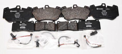 Audi R8 Front & Rear Genuine Audi Ceramic Brake Pads 4E0698151g 4S0698451J NEW