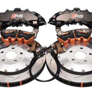 Audi TTRS 8S Big Brake Kit Brembo 8Pot Calipers DBA 53912SLVS 370x34mm Slotted 2-piece