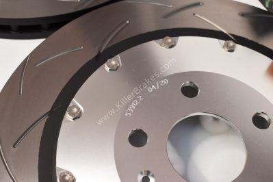 Audi TTRS 8S Big Brake Upgrade Brembo 8Pot Calipers 370x34mm Slotted 2-piece DBA 53912SLVS
