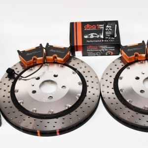 Audi TTRS 8S Brake Discs & Pads Package DBA 53912SLVXD 370x34mm DBA DB15005XP