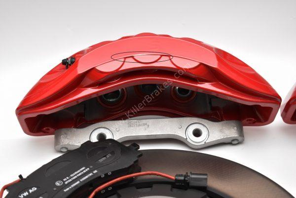 Front Audi Sq7 4M Brake Kit 6piston Red Akebono 400x38mm A4 S4 A5 S5 A6 C8 New