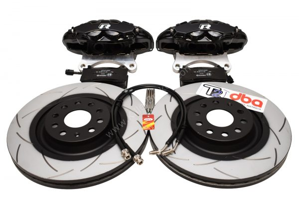 Brembo 4pot Brake kit DBA T2 340x30mm Brake discs NEW Black