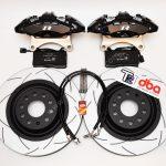 Brembo 4pot Brake kit DBA T2 340x30mm Brake discs NEW Black- 5