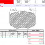 Front Ferodo Racing DS2500 Brake Pads FCP5055H BMW G20 G29 G30 G12 G01 Toyota Supra 3.0- 4
