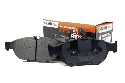 Front Hawk Performance HB757B.758 Brake Pads HPS 5.0 Audi A6 4G BiTdi 356x34mm