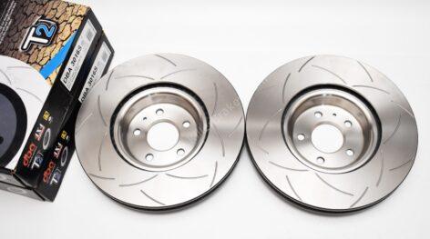 Front DBA 3016S Slotted T2 Brake Discs Audi S4 S5 B9 Audi A6 C8 350x34mm