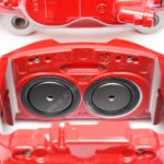 Front M Performance Red Calipers 4pot 348x36mm Brembo 34116891283 34116891284 – 4