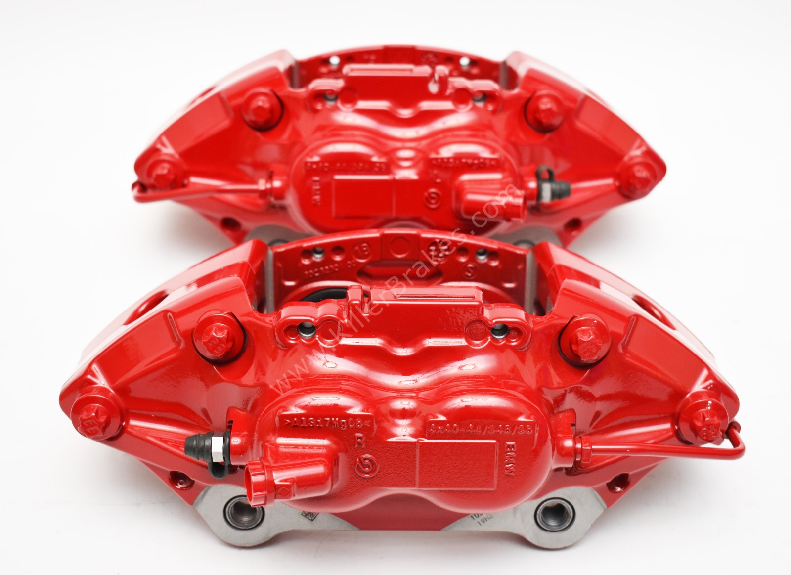 Front M Performance Red Calipers 4pot 348x36mm Brembo 34116891283 34116891284