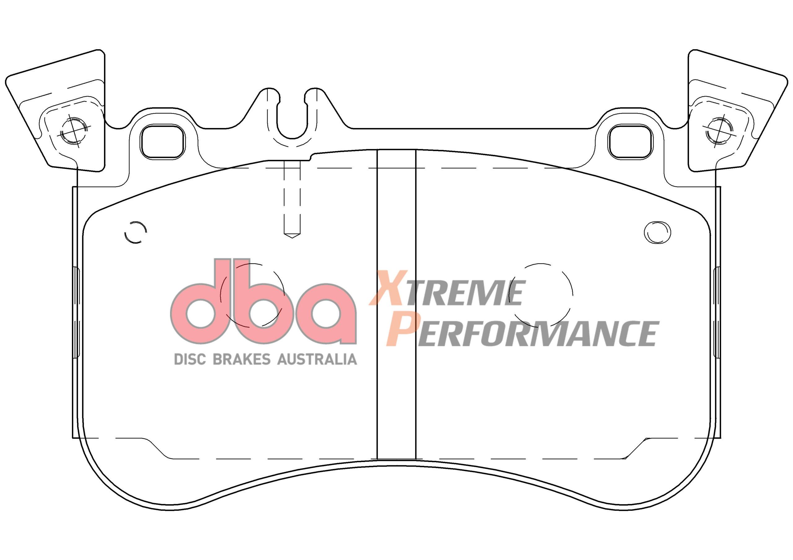 Front Mercedes A45 AMG DBA Brake Pads DB9031XP Xtreme Performance A0084203220 2