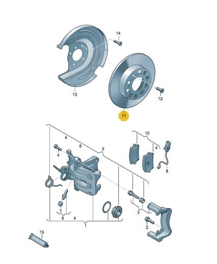 Rear Volkswagen Amarok V6 DBA Brake Discs 2777S 300x22mm Street Series T2 2N0615601