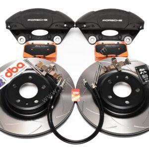 Audi A4 A5 S4 S5 B8 Brake Kit Porsche Macan Brembo 4pot DBA 345x30mm Slotted discs NEW