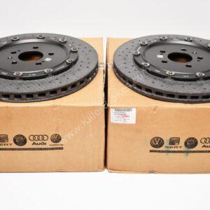 Audi RS7 4G Rear Brake Discs Ceramic 4G8615601C 4G8615601D 4G8615602C 4G8615602D New