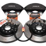 MQB Brake Kit Porsche Macan Brembo 4pot DBA 345x30mm Slotted discs NEW- 2