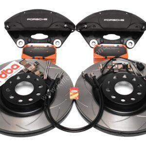 MQB Brake Kit Porsche Macan Brembo 4pot DBA 345x30mm Slotted discs NEW