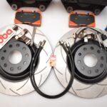 MQB Brake Kit Porsche Macan Brembo 4pot DBA 345x30mm Slotted discs NEW- 4